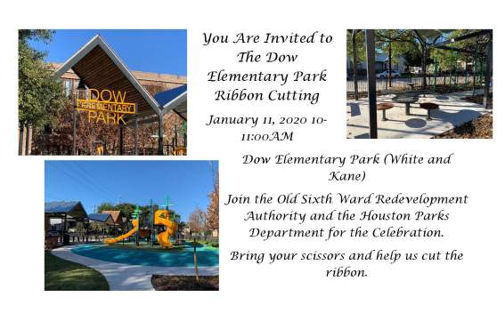 You Are Invited to The Dow Elementary Park Ribbon Cutting